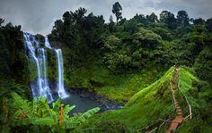 Tad Gneuang Waterfall, Paksa Champasak South Laos. by Extra Suriyachat on 500px