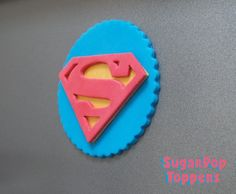 Custom Fondant Cake and Cupcake Toppers by SugarPopToppers Fondant Cupcake Toppers, Cupcake Cakes, Superman Birthday, Birthday Cake, Superman Cupcakes, Sugar Art, Supergirl, Turning, Unique Jewelry