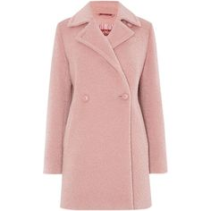 Max Mara Giralda alpaca double breasted coat (650 AUD) ❤ liked on Polyvore featuring outerwear, coats, jackets, coats & jackets, casacos, clearance, pink, double breasted coat, duster coat and maxmara