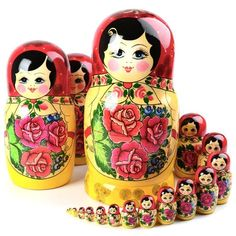 Russian Folk Art, Technology Tools, Painting For Kids, Project Management, Red Roses, Hand Painted, Traditional, Dolls, Projects