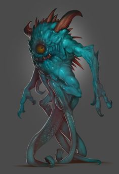 Slimy Creature Concept, Geovani Vazquez on ArtStation at https://www.artstation.com/artwork/vZEzv