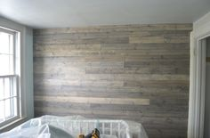 finished plank wall