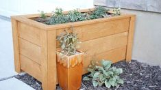 Learn to Make a DIY garden box for your yard. Grow herbs, flowers or veggies in a garden box made of wood, stone or metal. garden planters from pallets Planters Planters diy planters diy plans Planters pots Planters raised Planters vegetable Herb Planter Box, Outdoor Planter Boxes, Planter Box Plans, Wooden Planter Boxes, Cedar Planters, Raised Planter, Building Planter Boxes, Vertical Planter, Planter Ideas