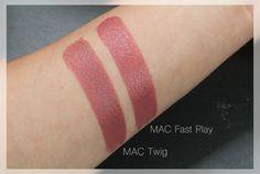 Herbstliebe | MAC Amplified Lipstick 'Fast Play'   Satin Lipstick 'Twig'