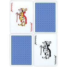 Fournier Plastic Playing Cards - Regular Pips (blue)