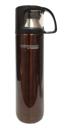 Voiture Isolierbecher gobelet thermos en acier inoxydable mat 0,4l Noir plastique