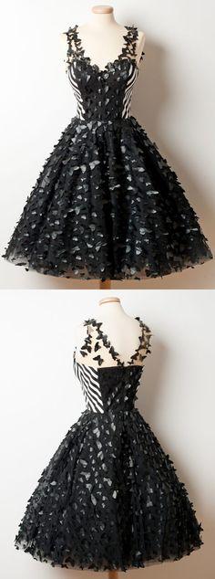 short homecoming dresses,vintage dresses,black homecoming dresses,unique homecoming dresses @simpledress2480