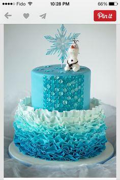 """Frozen"" blue cake"