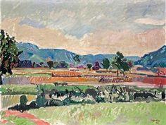 'Cornfields, Fields in Weiningen', 1943 - Max Gubler (1898-1973) )