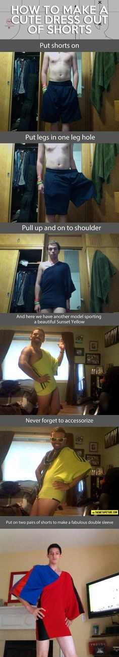 ahahahahahaha the sad thing is a lot of girls actually wear dresses this short...