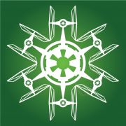 TIE Fighter - Star Wars Snowflake (Entire collection available. Star Wars Snowflakes, Snowflake Cutouts, Paper Snowflakes, Snowflake Designs, Snowflake Pattern, Disney Christmas Shirts, Christmas Stuff, Christmas Time, Christmas Crafts