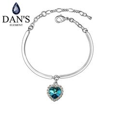 DAN'S Real Austrian Crystals   bracelets & bangles for women Fashion Bracelet Top Hot 2016 New Sale