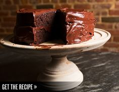Emily Luchetti's classic chocolate cake. Moist cake with the perfect frosting-to-cake ratio. (She's a two-time James Beard Award winning pastry chef, who's worked at Farallon and Waterbar...and currently at Marlowe, Park Tavern, and The Cavalier)