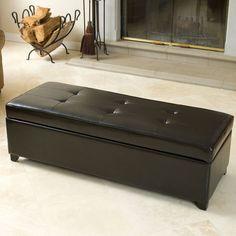 Bradford Bonded Leather Storage Bench