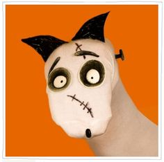 How to make a frankenweenie Sparky sock puppet with free printable templates! From spoonful.com