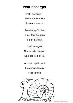 """Paroles de la chanson """"Petit escargot"""""""