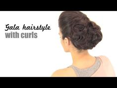 Gala hairstyle with curls