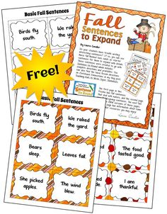 Fall freebie for you! Teach your students how to write longer, more detailed sentences with these engaging strategies and this free set of task cards!