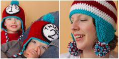 Thing 1 and Thing 2 LABEL pattern.   There is a hat pattern link in the blog post.