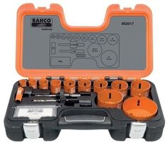 NEW BAHCO TOOLS 17-PIECE HOLESAW SET 862017