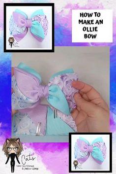 Diy Lace Ribbon Flowers, Ribbon Hair Bows, Diy Hair Bows, Diy Ribbon, Fabric Bow Tutorial, Hair Bow Tutorial, Handmade Hair Bows, Boutique Hair Bows, Making Hair Bows
