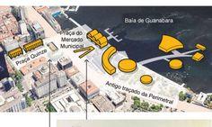 Veja o projeto de Niemeyer para a Praça Quinze Foto: Editoria de Arte