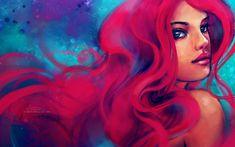 Disney Princess Ariel, from the Little Mermaid, beautiful mermaid art