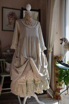 combination-dress LES OURS+apron Les Chiffon de Pucerone+skirt-made myself