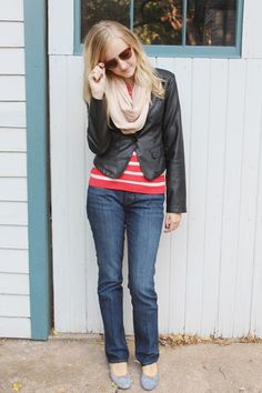 Looking lovely in layers & leather! #FallFashion