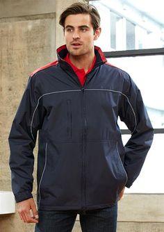 Mens Reactor Jacket. High wind collar with hidden zippered hood and adjustable drawstrings. #menwinterwear #winterwear