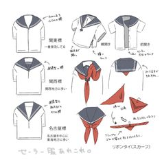 How to correctly tie a seifuku scarf/ribbon tutorial.