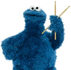 Cookie Monster likes to rock n roll!