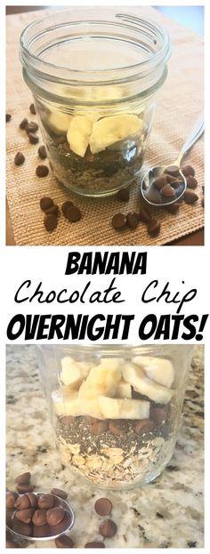 Banana Chocolate Chip Overnight Oats