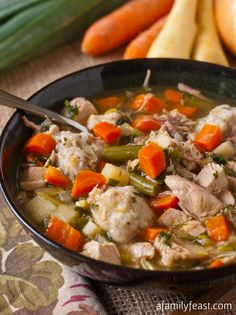 Turkey Soup with Potato Dumplings - A flavorful and hearty soup recipe that is perfect for using up Thanksgiving dinner leftovers!