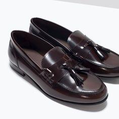 MOCASIN PIEL VESTIR ANTICK-Mocasines-Zapatos-HOMBRE   ZARA España