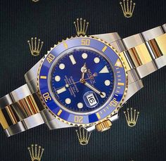 Rolex Submariner in two toned stainless steel and yellow gold.