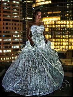 Fiber optic wedding gown!!!!!