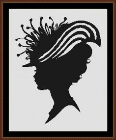 Victorian Lady Silhouette.