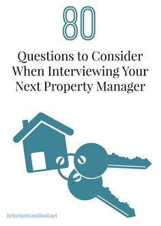 80 Questions to Consider When Interviewing Your Next Property Manager - Hiring a property manager? Make sure you know what questions to ask with this printable list! http://propertyigniter.com/