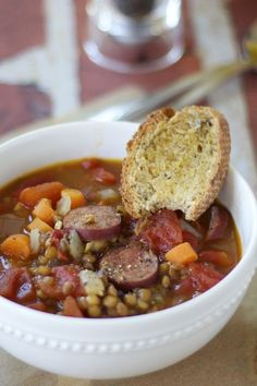 Lentil and Sausage Soup {healthy, hearty and delicious!}