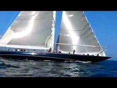 J Class Yachts Velsheda (original) and Ranger - Sailing Newport, Rhode Island 2011 Regatta