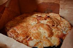 Apple Pie Baked in a Brown Paper Bag.. there's a place they showed on the Food Network where they top it with sugar cookie dough THEN bake.. they sell out yearly lol