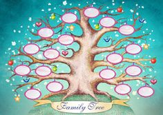 The Big Family Tree Digital Clip Art by BlueberryDreamDesign