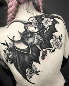 bat tattoo - goth