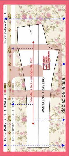 Cómo colocar correctamente el patrón en la tela para que no se tuerza un pantalón