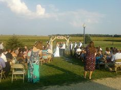Outdoor wedding and reception N.E. Indiana
