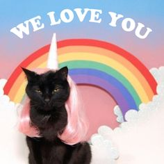 We love you more than cats dressed like unicorns in pink wigs floating through rainbow clouds!!! XO @Doe Deere and Lime Crime Team