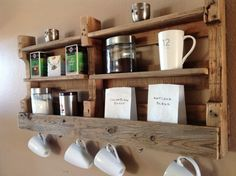 Reclaimed wood coffee & tea shelf  SALE was 99.00 now 89.00. $89.00, via Etsy.