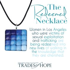 Within the United States, there are thousands of women trafficked into the sex industry. This necklaces is providing #hope for these women who have been victims of #humantrafficking #tradesofhope