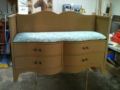 REPOURPOSED DRESSER | repurposed dresser into a bench from Tigerlilys on Etsy-so cool by ...
